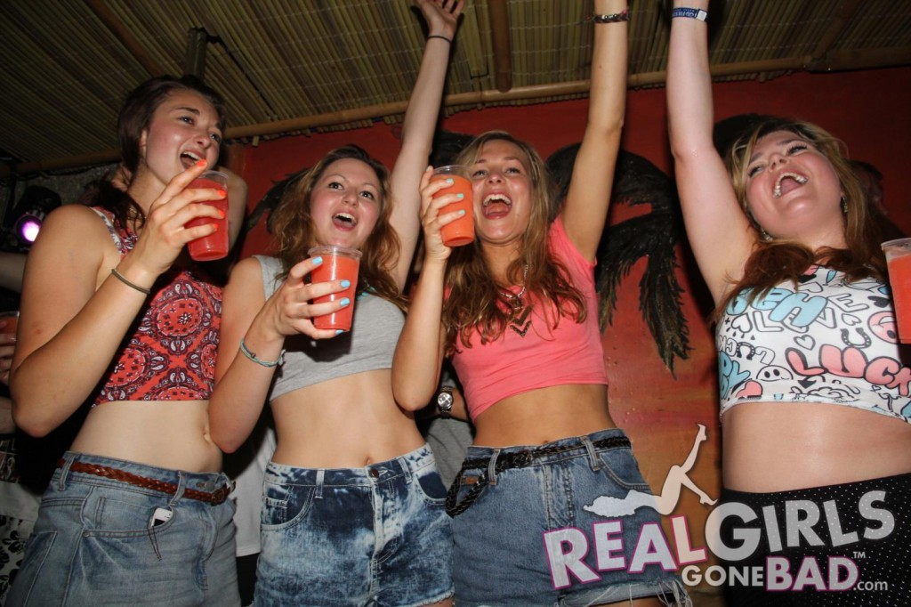 Drunk group party teen — 8