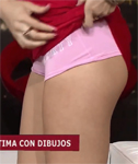 Three Girls Lift their Skirts on TV Show (Close Ups)