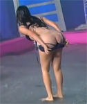 Sexy Strip Tease on TV