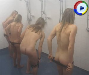 University Sports Girls Get Totally Naked for Charity