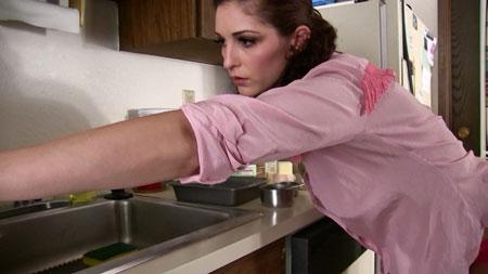 Hot Carlotta in the kitchen