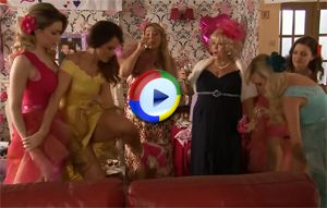 Hollyoaks girls pull down their knickers