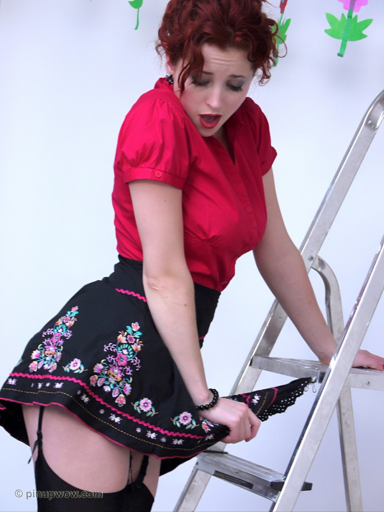 Lucy V Oops on a Miniskirt with Pinup WOW - Gallery