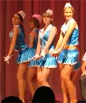 Air Stewardesses Upskirt Dance
