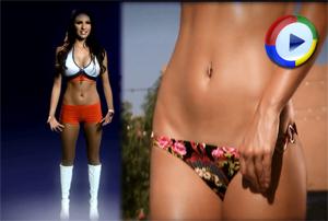 Hot Cheerleader Video with Closeups