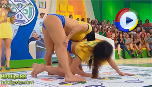 Sexy Brazilian Girls Playing Twister