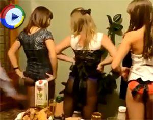 Girls Dancing Have Their Panties Pulled Down