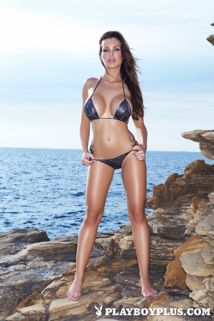 Helen De Muro poses in a bikini for Playboy