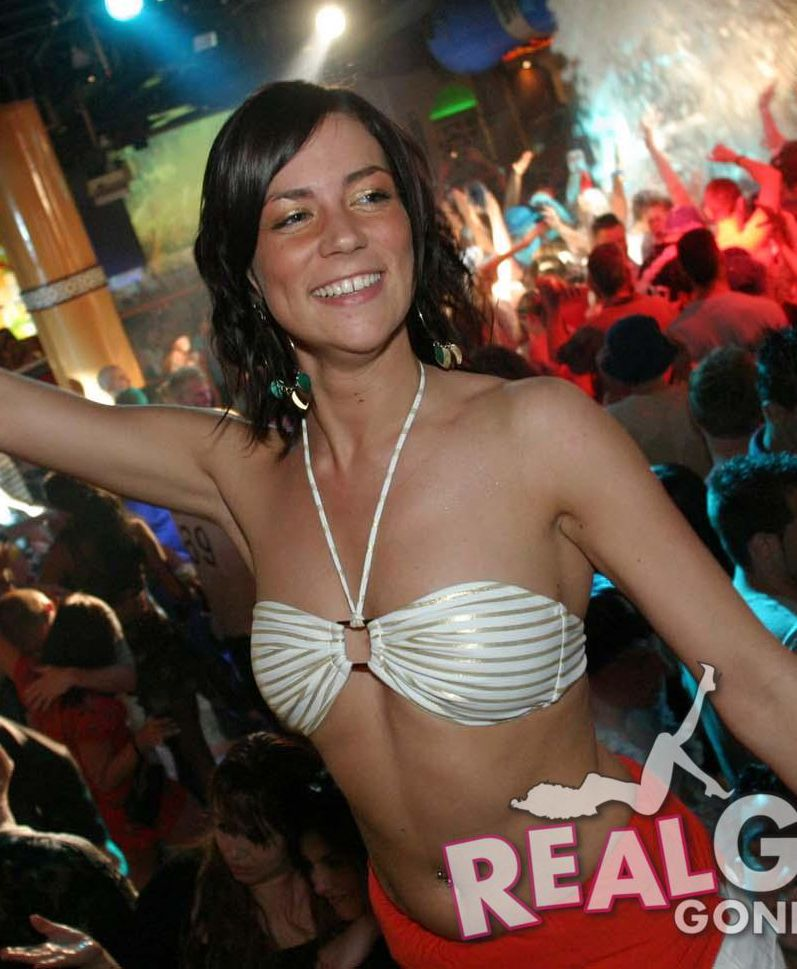 Real girls gone bad smiling and partying