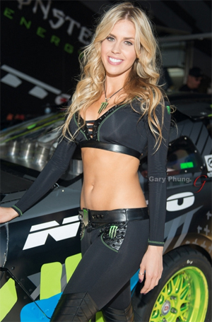 Monster Energy Girl Poses for Playboy