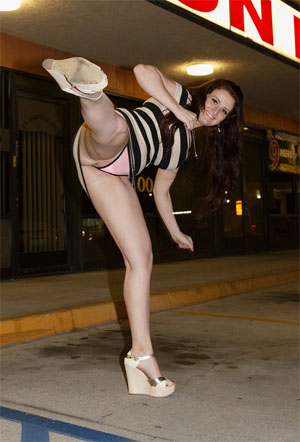 Zishy Galleries - Kicking Upskirt