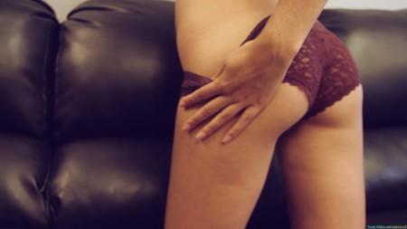 Sandra tugs at her panties