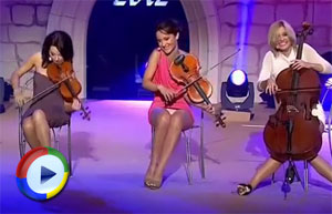 Violinists Upskirted on Stage - Video