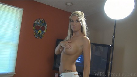 Holly gives us some handbra fun