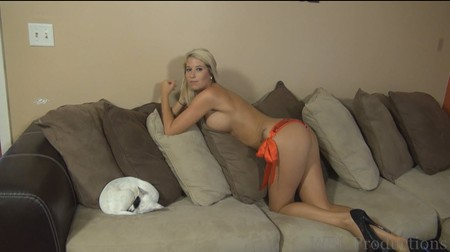 Holly posing topless for WPL Productions