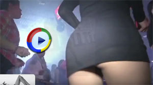 Girls Dancing in Miniskirts Get Upskirted on the Dancefloor