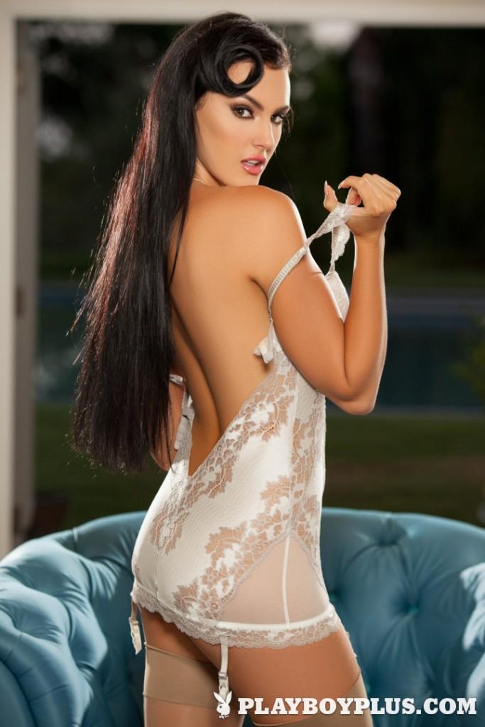 Ashleigh Hannah looks ready to seduce on Playboy