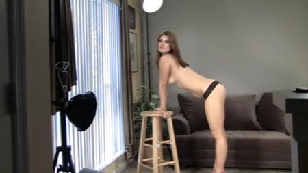 Lovely Tessa posing topless for Sandlmodels