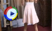 Tillie Dances and Lifts Her Skirt – Downblouse Loving