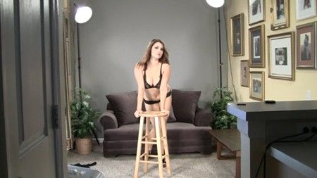 Tessa teasing in her bra and panties
