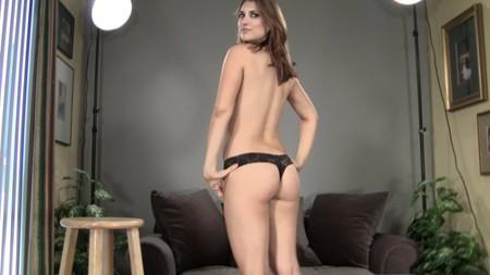 Tessa posing in just her panties