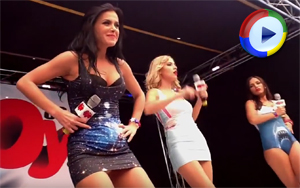 Singers Oops Upskirt on Stage - Serebro