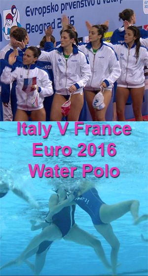 Italy V France Water Polo - European Championship 2016