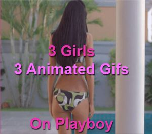 Three Girls Three Animated Gifs - Playboy March 2016