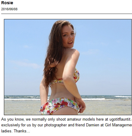 Cute brunette Rosie is teasing in her bikini for UGotItFlauntIt