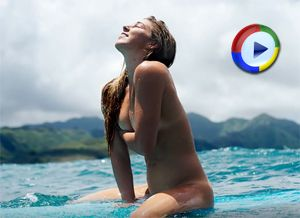 Naked Surfer Girl