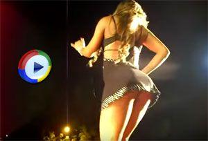 Dancing Upskirt on Stage