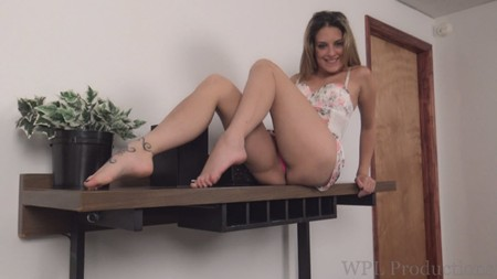 Girl showing off her hot legs for WPL Productions
