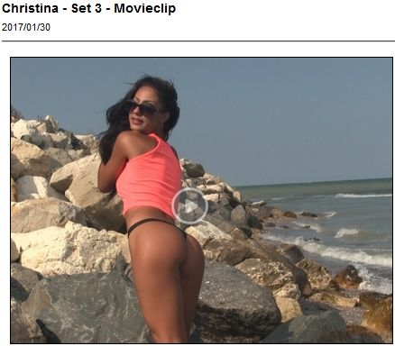 Christina shows off her ass by some rocks for Ugotitflauntit