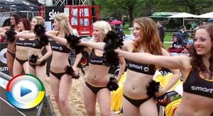 Sexy bikini cheerleaders