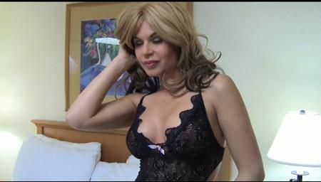 Blonde hottie Charlie Kristine teases