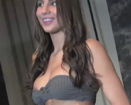 April poses for at the Chicago Playboy Casting Call