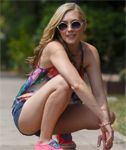 Blonde Cutie Ember Volland Teases For Zishy
