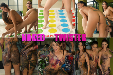 Naked Twister Girls - Misty Gates, Bailey Knox and Carlotta Champagne
