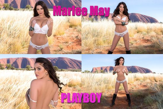 Australian first-timer Marlee May strips for Playboy