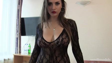 RaquelZ teases in sheer lingerie