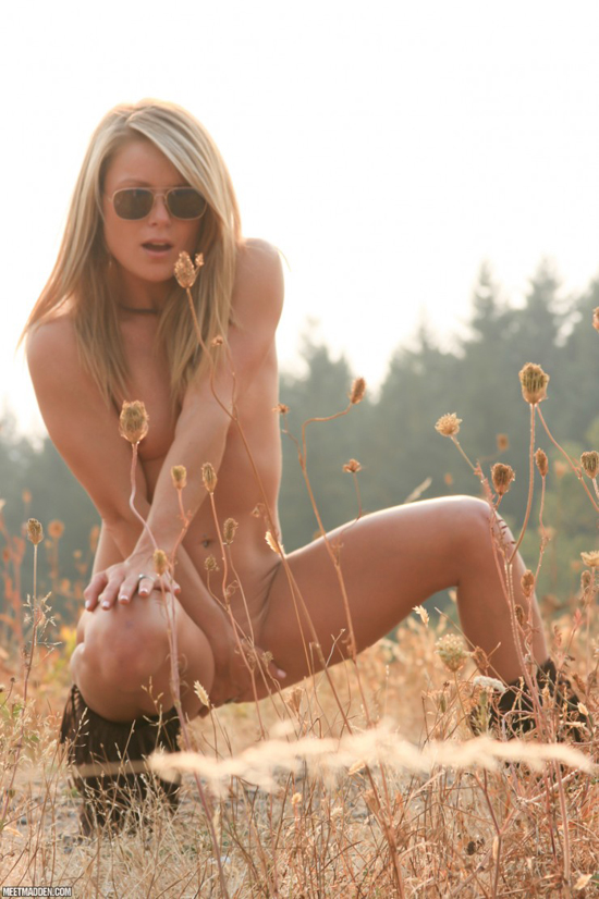 Madden strips naked outdoors
