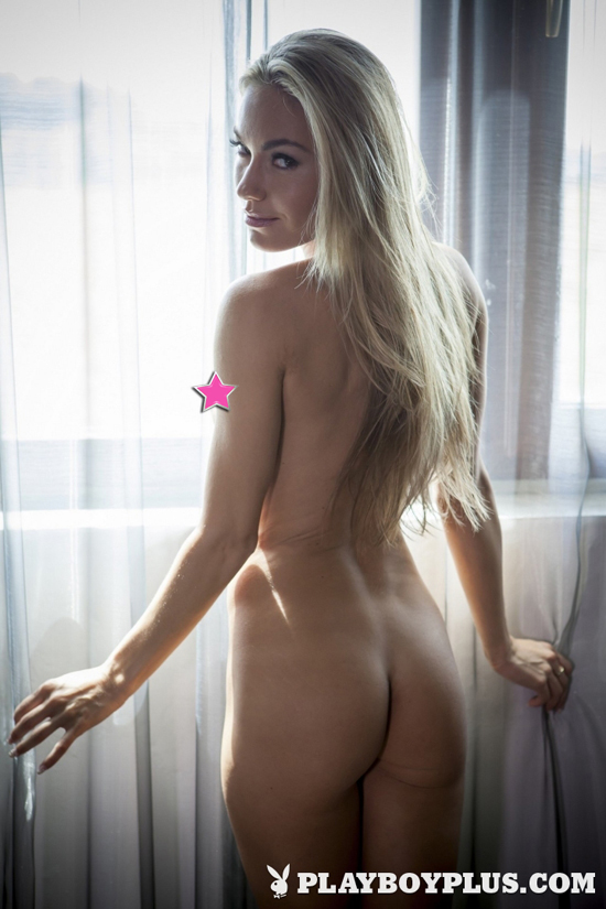 Blonde Vicky is naked for Playboy
