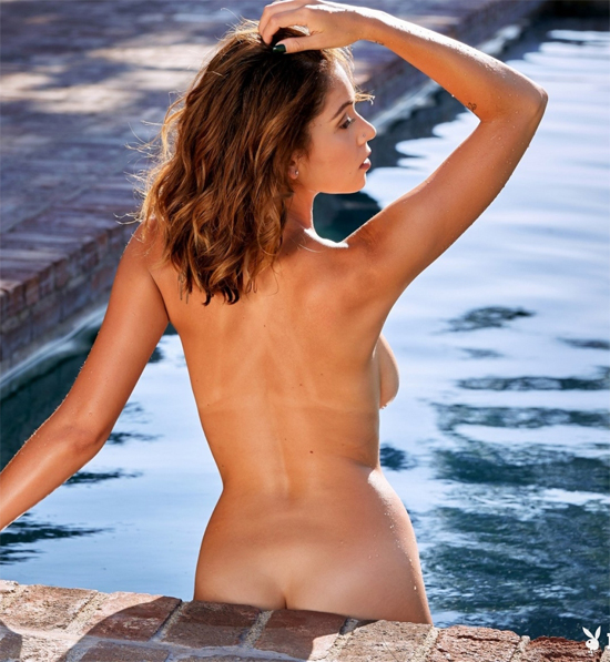 Ali Rose in the pool with no clothes on