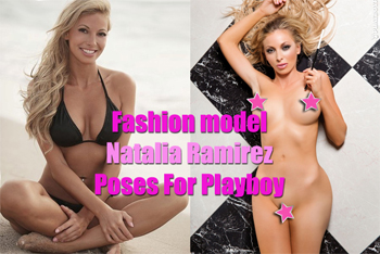 Fashion model poses naked for Playboy