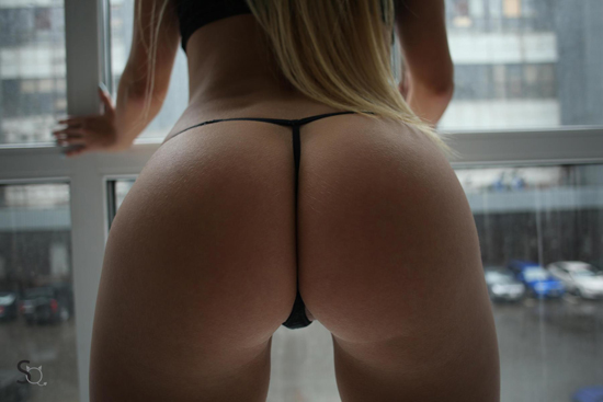 The perfect ass in a thong