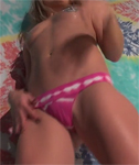 Video of Meet Madden in pink panties and with glitter on her boobs