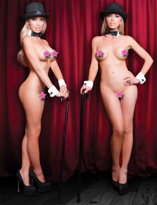 Showgirl dances naked for Playboy