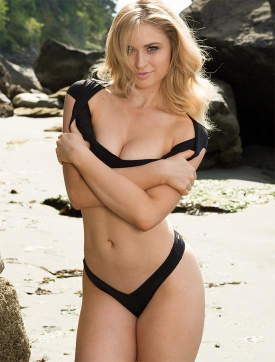 Beautiful Maya Rae on the beach