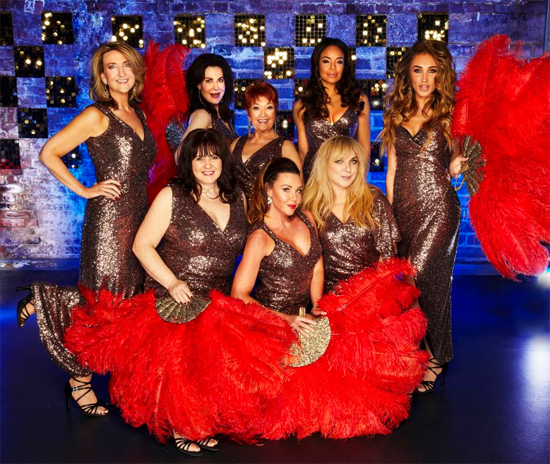 The lineup for the Ladies Celebrity Full Monty