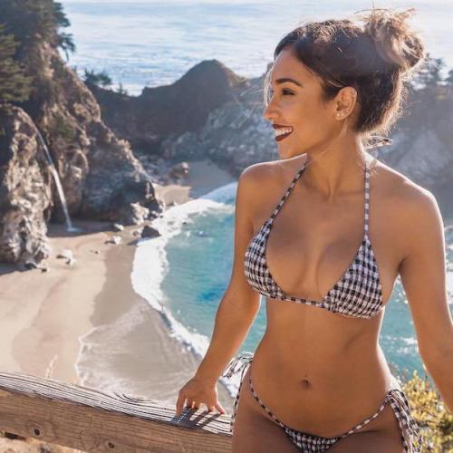 Vegan girl in a bikini